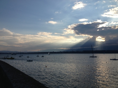 Sunset Run in Geneva